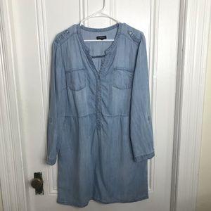 Caroll Paris chambray denim long sleeve dress
